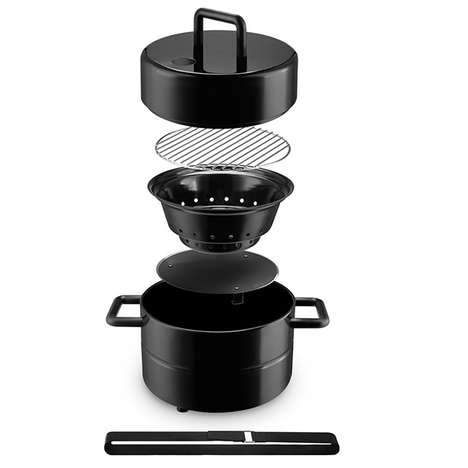 Portable Charcoal Grills - The Eva Solo to Go Grill Lets You BBQ on the Go