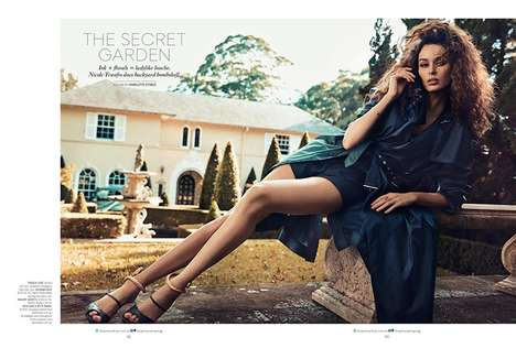 Seductive Estate Editorials - The SHOP Australia Photoshoot Stars Nicole Trunfio