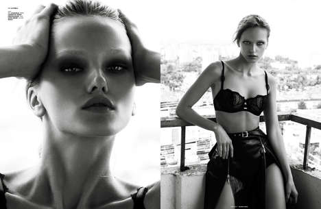Sultry Lingerie Editorials - The Two Tone Image Series for The Ones 2 Watch is Suggestive