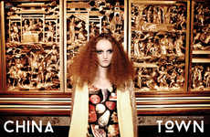 Oriental Disco Diva Editorials - The China Town Editorial for The Ones 2 Watch Embraces Opulence