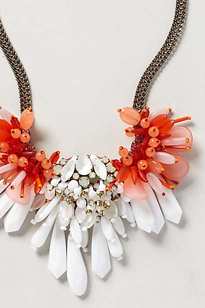Elegant Coral Accessories - The Stalasso Bib Necklace from Anthropologie is Summer-Ready