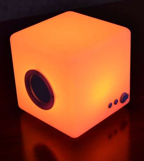 Colorful Bluetooth Speakers - This Wireless Cube Has Multi-Color LED Lights That Change Color