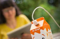 Chargeable Drink Cartons - The Mr Booste Portable Charger is Shaped Like a Cute Juice Box