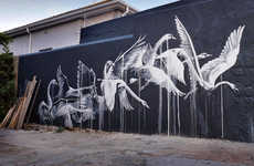 Sorrowful Animal Graffiti - Faith47's Cape Town and London Street Art is Extremely Emotive