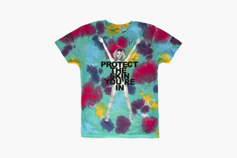 Charitable Skin-Baring Tees - Chloe Norgaard Encourages Us to Protect the Skin We