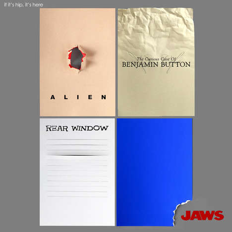Minimal Paper Movie Posters - Minke's Minimal Movie Posters Convey the Essence of Classic Films