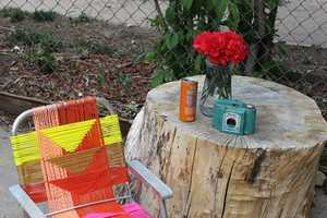 The Latest 'A Beautiful Mess' DIY Involves an Aluminum Lawn Chair