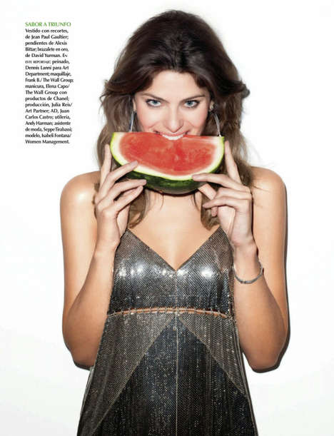 Tropical Showgirl Editorials - Isabeli Fontana Stars in the Vogue Mexico June 2014 Issue