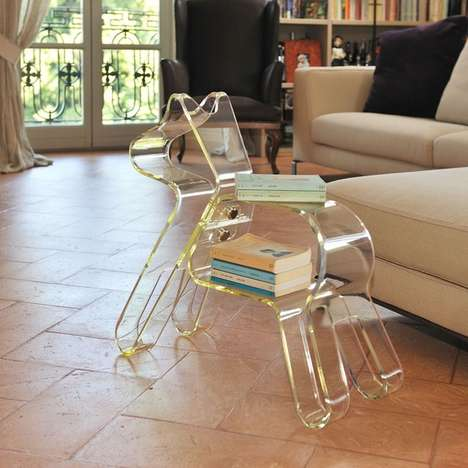 Clear Canine Tables - The Bau Book Holder is a Stylish Place to House Your Reading Material