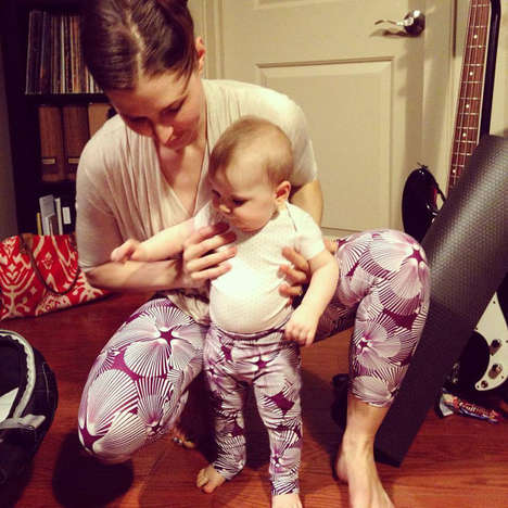 Vivid Toddler Fitnesswear - These Baby Yoga Pants from Etsy Shop MuladharaYoga are Fashion-Forward