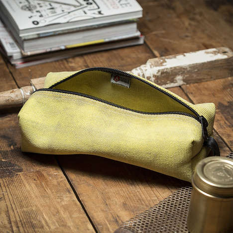 Fire Hose Toiletry Bags - This Durable Dopp Kit is Made From Fire-Resistant Recycled Materials