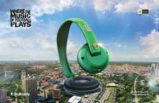 Sports Stadium Headphone Ads - These Skullcandy Headphones Ads Celebrate the 2014 World Cup