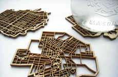 Canadian Topography Decor - The National Design Collective's Coaster Creations Evoke National Pride