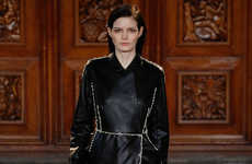 Armored Leather Apparel - Emilia Wickstead's Fashion Collection Features Tough Silhouettes