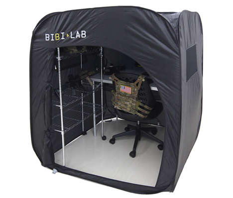 Unfurling Solitary Shelters - The BT1-11 Foldable Lonely Tent is Easily Set Up for Impromptu Privacy
