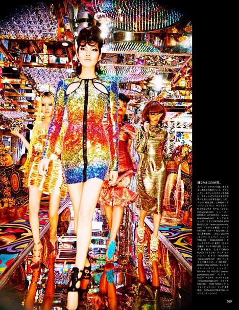 Fiercely Shimmering Editorials - The Vogue Japan July 2014 Photoshoot Stars Chiharu Okunugi