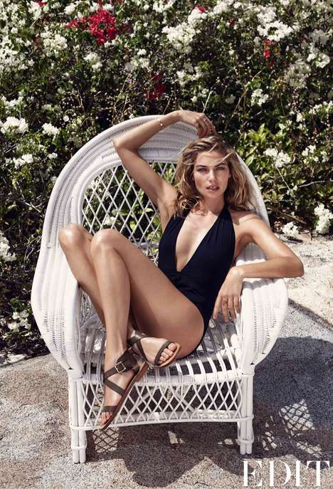 Carefree Caribbean Editorials - Jessica Hart Stars in the Latest The Edit May 2014 Issue