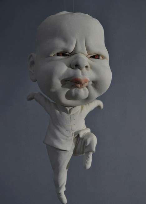 Bizarre Baby Artwork - Johnson Tsang's Chubby Baby Sculpture Set Shows Dramatic Infant Portrayals