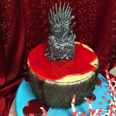 Bloody Medieval Cakes - PurPlePete24 Created a Game of Thrones Cake that is Intricately Detailed