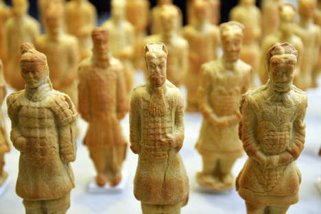 Edible Terracotta Warriors - These Chinese Pizza Dough Sculptures are Crafty and Detailed