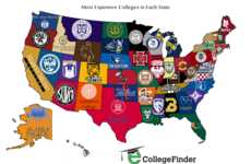 Collegiate Pricing Maps - This Infographic Lists the Most Expensive Colleges in the US