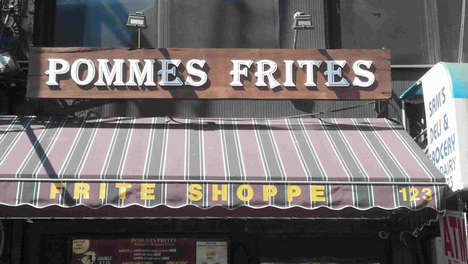 Specialty Fries Restaurants - NYC's Pommes Frites Specializes in Belgian Fries with Fancy Sauces