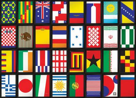 Brazil World Cup Posters - Graphic Designer Jose Azevedo Re-Imagines International Flags
