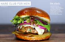 Debonair Bunny Burgers - The Hare Club For Men Burger is Made with Rabbit Meat