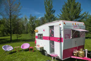 This Hello Kitty Camping Mobile Makes Camping Cute and Comfortable