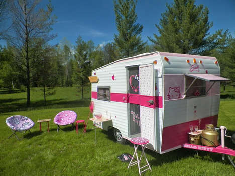 """hello kitty camping"""