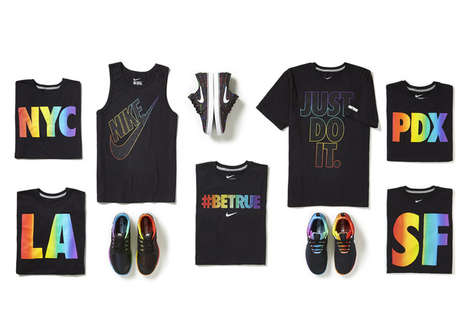 LGBT Sports Apparel - The Nike 2014 #BETRUE Collection Features Vibrant Rainbow Colours