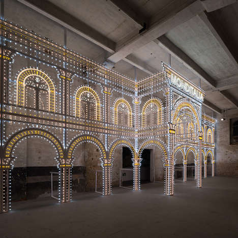 Architectural Illuminator Structures - The Luminaire Light Installation by Rem Koolhaas is Classical