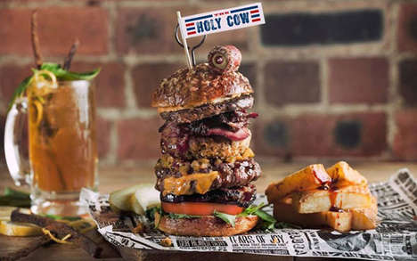 Multi-Meat Burger Meals - The Holy Cow Burger Combo Comes with 17 Different Kinds of Beef