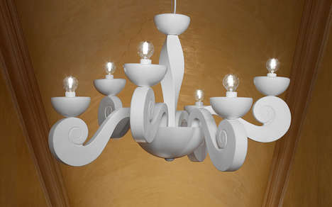 Modernized Traditional Lighting - The Botero Collection by Masiero is Sophisticatedly Cartoonish