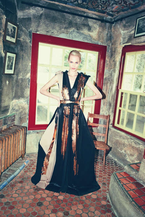 Majestically Exotic Editorials - Aymeline Valade Stars in Bergdorf Goodman Magazine's Pre-Fall 2014