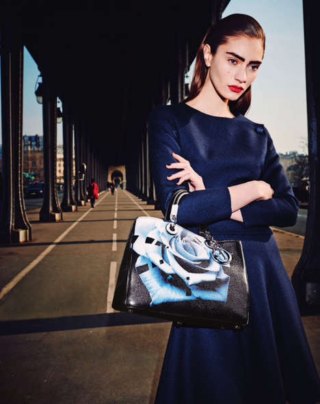 Sophisticated Parisian Editorials - Marine Deleeuw Models Bergdorf Goodman