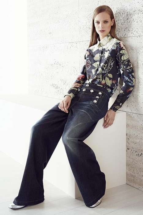 Seductive Floral Fashion - The Gucci Resort 2015 Collection is Inspired by the Strength of Flowers