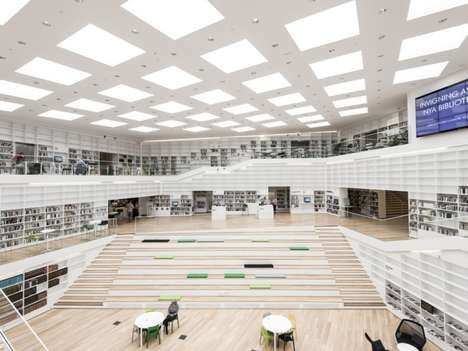 Modernist Educational Institutions - The Dalarna Media Library by ADEPT Embraces Simplistic Design