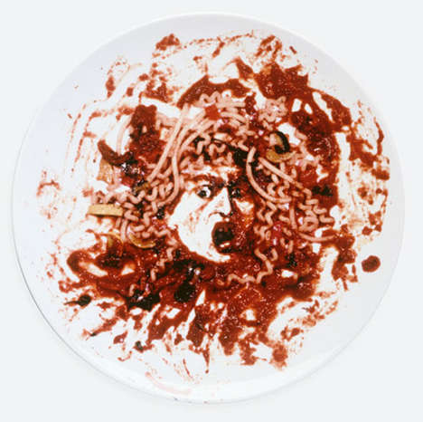 Saucy Spaghetti Artworks - This Piece of Vik Muniz Art Resembles Medusa