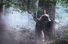 Enchanted Forest Fashion Ads - The Alberta Ferretti Fall 2014 Campaign Stars Mariacarla Boscono