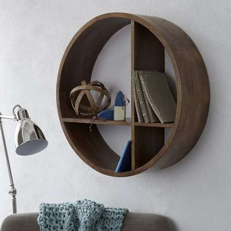 Rustic Sphere Shelving - The Shape Wall Shelf from West Elm Doubles as an Elegant Art Piece