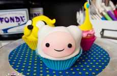 Cult Cartoon Cupcakes - These Adventure Time Cupcakes are Shaped like Finn and Jake the Dog