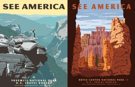 Neo-Vintage Park Posters - Steven Thomas' Park Posters Read Like Retro-Style Travel Ads