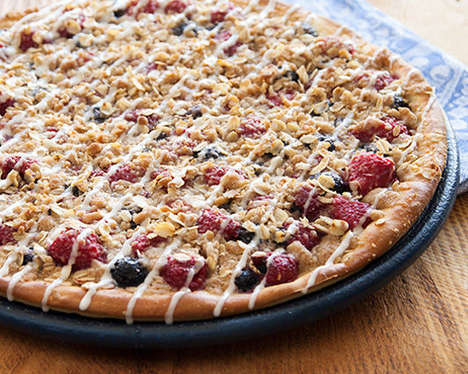 Fruity Granola Pizzas - This Delicious Dessert Pizza is Made with Oatmeal and Berries