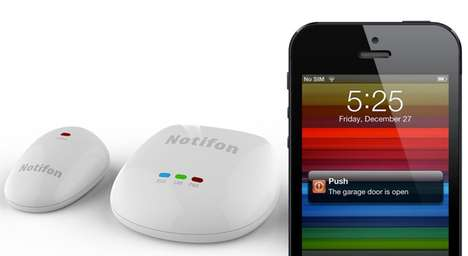 Household Item Notifications - This Notification Object Uses Sensors to Update You on Your Home