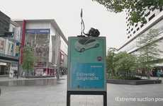 Vacuum-Suctioned Billboards - Saatchi Netherlands Created a Clever Samsung Vacuum Ad