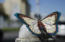 Boastful Butterfly Art - Andreas Preis's Butterfly Art Carries Encouraging Messages
