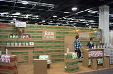 Cardboard Trade Show Booths - Quinn Popcorn's Trade Show Booth is Made from a Lot of Paper and Glue