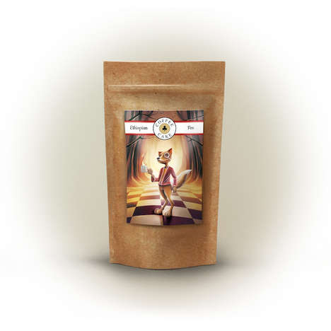 Wonderland Coffee Branding - Whimsical Animals Personify Each Type of Coffee Cake Blend