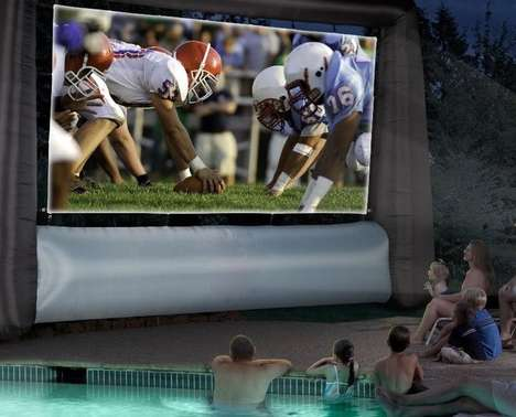 Blow-Up Jumbo Trons - This Enormous Inflatable Movie Screen Brings the Theater to Your Backyard